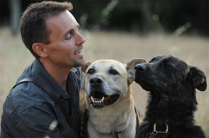 Dog Trainer Chad Culp with Jackson and Nakita